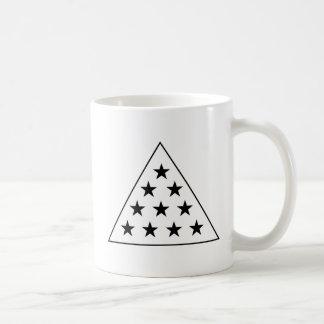 Pirámide B de la sigma pi+W Taza De Café