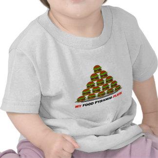 pirámide de alimentación camiseta
