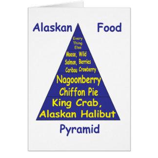 Pirámide de alimentación de Alaska Tarjeta De Felicitación