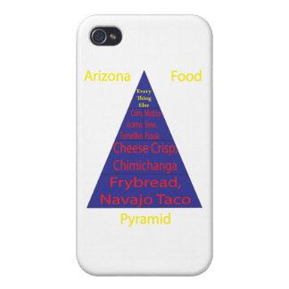 Pirámide de alimentación de Arizona iPhone 4 Protectores
