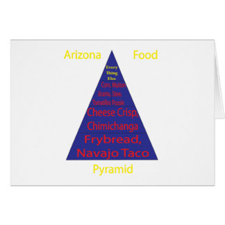 Pirámide de alimentación de Arizona Tarjetas