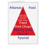 Pirámide de alimentación de Arkansas Tarjeta De Felicitación