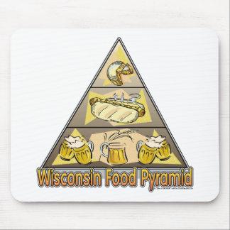 Pirámide de alimentación de Wisconsin Tapetes De Raton