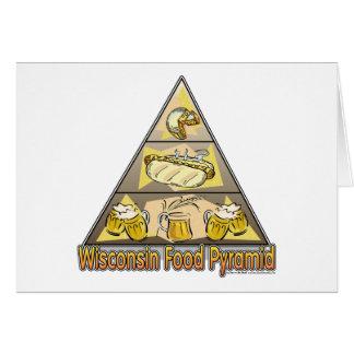 Pirámide de alimentación de Wisconsin Tarjetas