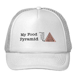Pirámide de alimentación del tocino gorra