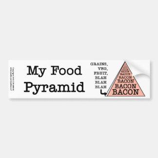 Pirámide de alimentación del tocino pegatina para auto