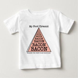 Pirámide de alimentación del tocino tshirt