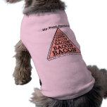 Pirámide de alimentación del tocino playera sin mangas para perro