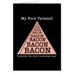 Pirámide de alimentación del tocino tarjetas