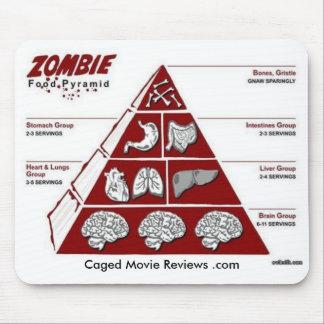 Pirámide de alimentación del zombi alfombrilla de ratón