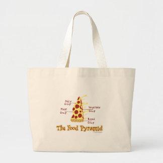 Pirámide de alimentación divertida de la pizza bolsa tela grande