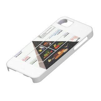 Pirámide de alimentación funda para iPhone 5 barely there