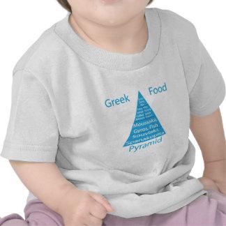 Pirámide de alimentación griega camisetas