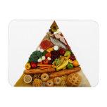 Pirámide de alimentación imán rectangular