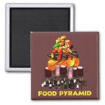 Pirámide de alimentación imanes de nevera