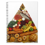 Pirámide de alimentación libro de apuntes con espiral