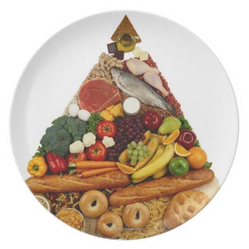 Pirámide de alimentación platos