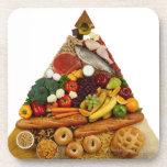 Pirámide de alimentación posavasos de bebidas