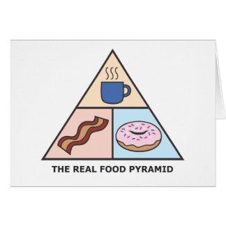 Pirámide de alimentación revisada tarjeta de felicitación