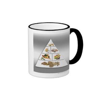 Pirámide de alimentación taza de dos colores