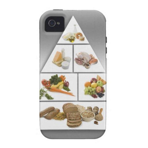 Pirámide de alimentación vibe iPhone 4 fundas