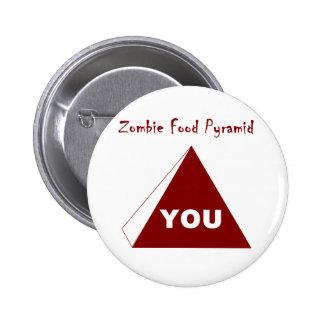 Pirámide de alimentación Z del zombi Pin Redondo De 2 Pulgadas