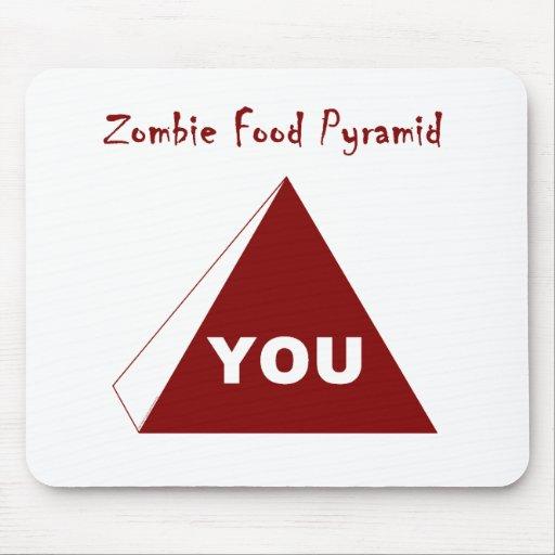 Pirámide de alimentación Z del zombi Tapetes De Raton