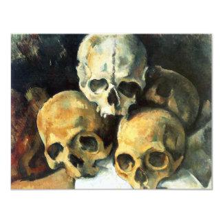 """Pirámide de Cezanne de las invitaciones de los Invitación 4.25"""" X 5.5"""""""