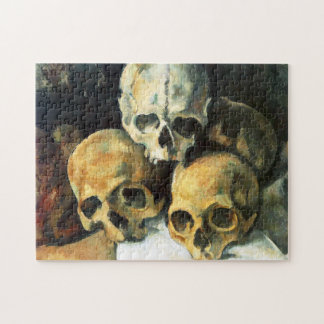 Pirámide de Cezanne del rompecabezas de los cráneo