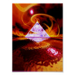Pirámide de cristal posters
