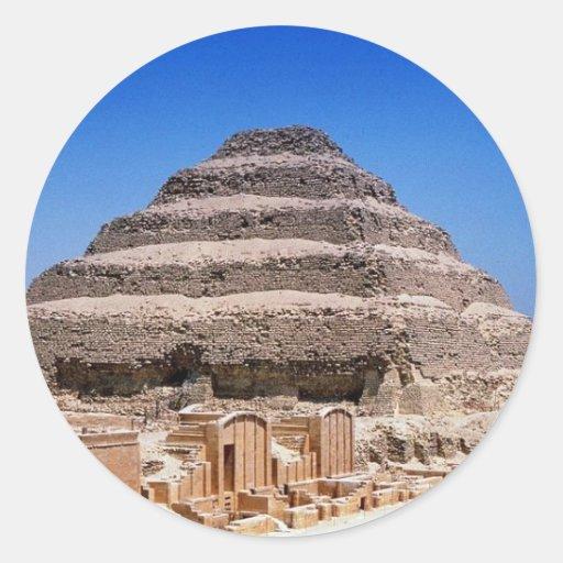 Pirámide de Djoser Pegatinas Redondas