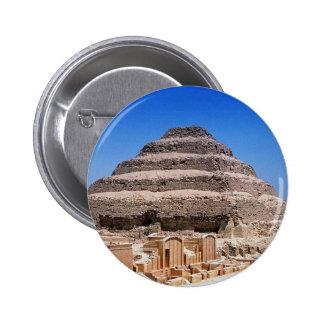 Pirámide de Djoser Pin Redondo De 2 Pulgadas