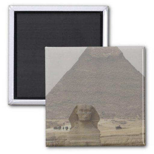 Pirámide de El Cairo Egipto/imán de Sphynx
