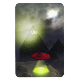 Pirámide de Illuminati e imán superior del UFO Fle