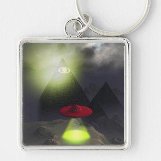 Pirámide de Illuminati y llavero del UFO