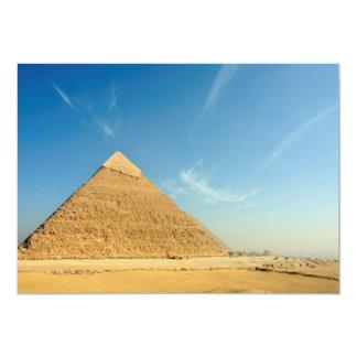 """Pirámide de Khafre (Chephren), Giza, Egipto Invitación 5"""" X 7"""""""