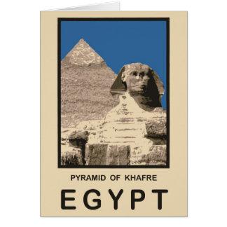 Pirámide de Khafre Egipto Tarjeta De Felicitación