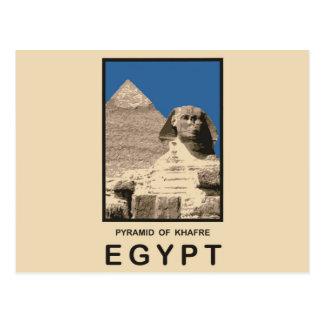 Pirámide de Khafre Egipto Tarjeta Postal