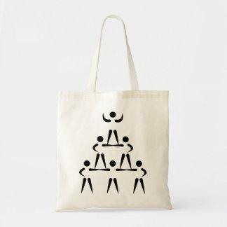 Pirámide de la animadora bolsas lienzo