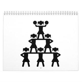 Pirámide de la animadora calendarios