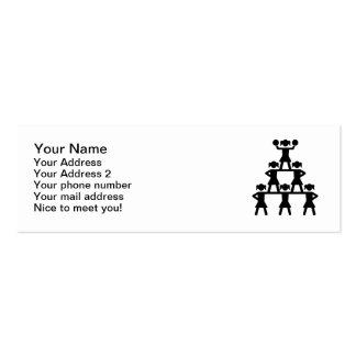 Pirámide de la animadora tarjeta de negocio