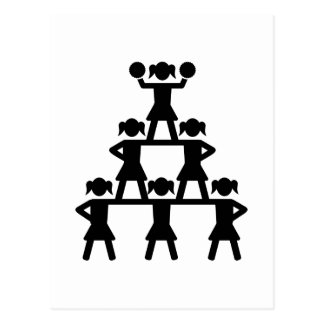 Pirámide de la animadora postal