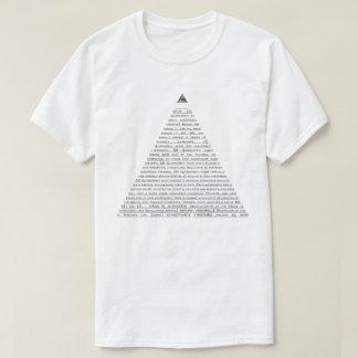 Pirámide de la conspiración (texto negro) playera