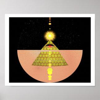 Pirámide de la diosa de Sun por Kookie Poster