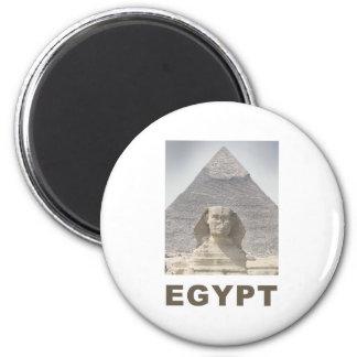 Pirámide de la esfinge de Egipto Imán Redondo 5 Cm