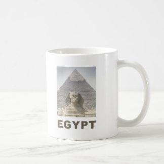 Pirámide de la esfinge de Egipto Tazas De Café