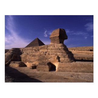 Pirámide de la esfinge en Giza Postal