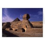 Pirámide de la esfinge en Giza Tarjetas