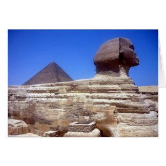 pirámide de la esfinge tarjeta de felicitación