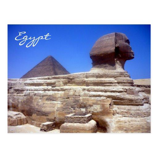pirámide de la esfinge tarjeta postal